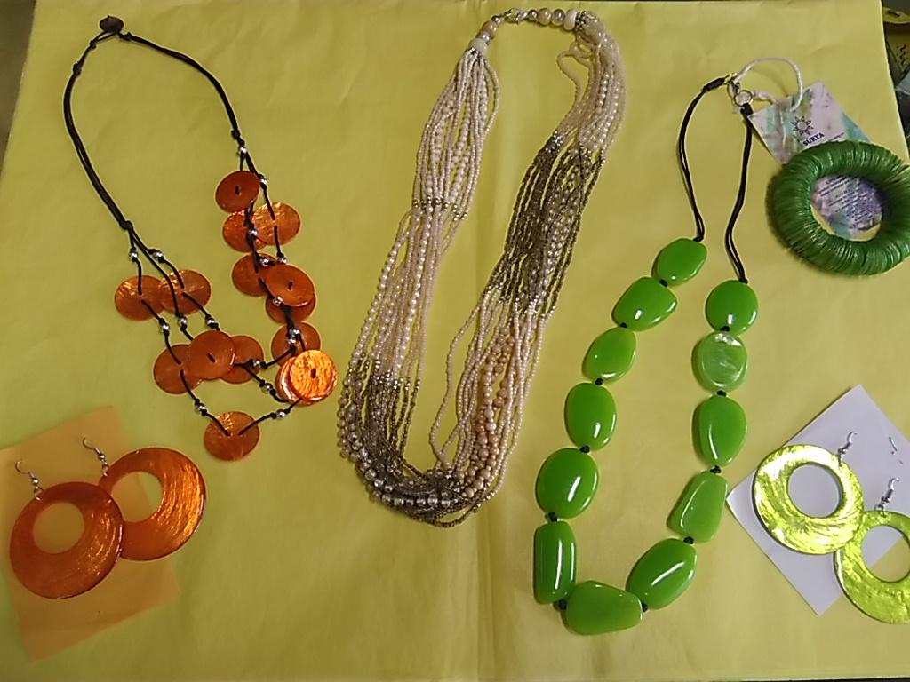 bijoux equosolidali verde arancio