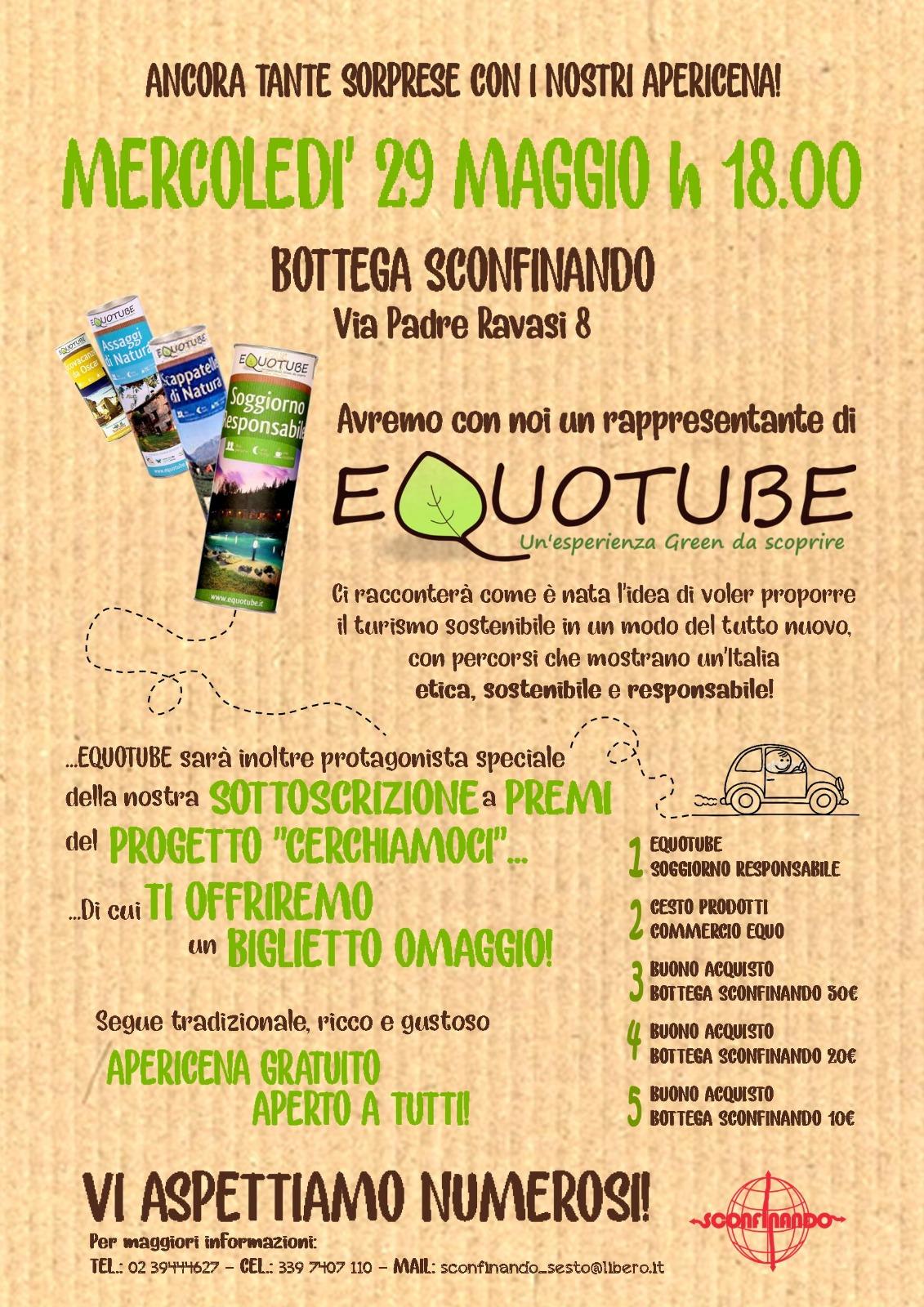 Apericena 29 maggio Equotube